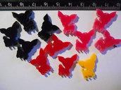 Lotto ciondolini chihuahua in plexiglass colorato
