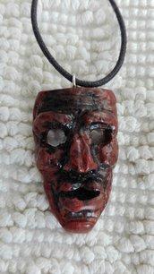 Maschera Mamuthone ciondolo fimo