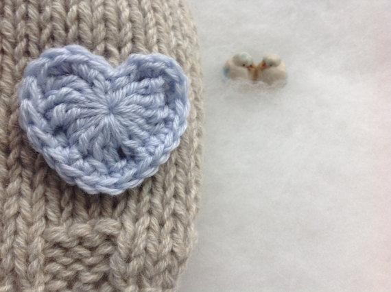 Eco Cashmere cappellino per neonati in cashmere 100% con cuore Cuffietta per neonati Photo Prop in cashmere made in Italy Regalo Battesimo