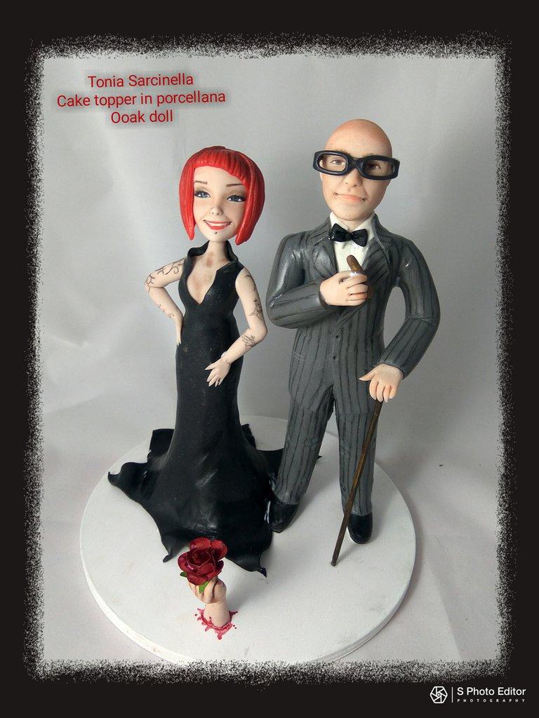 Cake topper sposi famiglia Addams