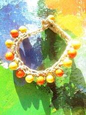 BRACCIALE BACCHE D'AUTUNNO giallo arancio
