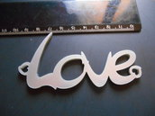 Outlet - Ciondolo LOVE in plexiglass argento