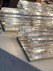 Triedri, ricambi in vetro per lampadari di Venini e non, color trasparente
