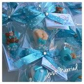 confetti decorati nascita, ricordino nascita, confettata nascita
