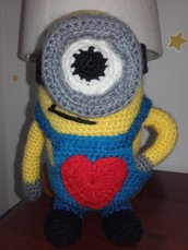MINION all'uncinetto pupazzo love homemade 22 cm