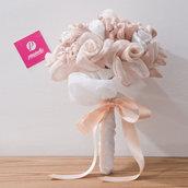 Bouquet tessuto Rosa e Bianco