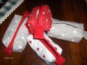 Portafazzolettini, tutti realizzati a mano con stoffa trapuntina di cotone