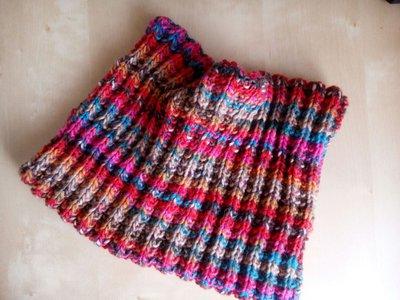 scaldacollo sciarpa ad anello uomo donna ragazzo unisex fatto a mano ai ferri costa inglese multicolor  collo in lana