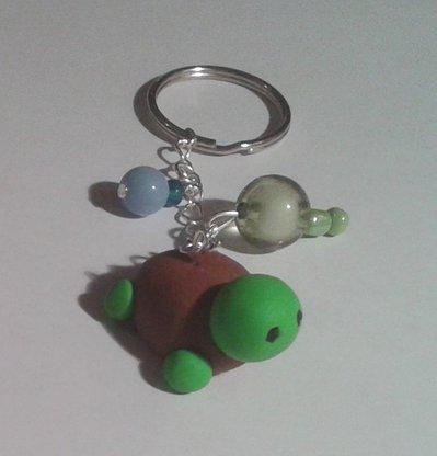 Portachiavi tartaruga in fimo