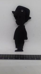 Ciondolo bimbo in plexiglass nero