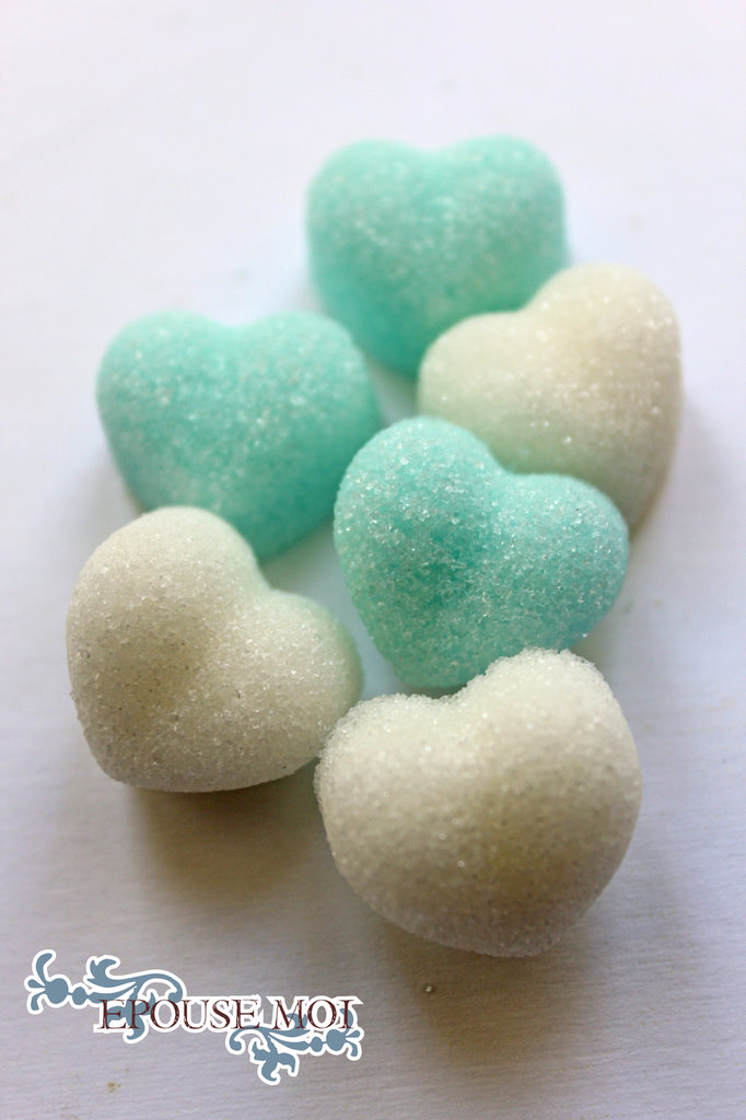 zollette di zucchero per bomboniere cuori di zucchero per segnaposti