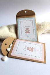 bustine porta confetti in carta craft per battesimo e sweet tables bustine per battesimo set tavolo dei dolci