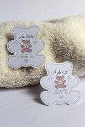 tags etichette bigliettini bomboniere sagomati grafica particolare ideata da epouse moi orsetto tags orsetto tags teddy bears bigliettini orsetto bigliettini teddy bears
