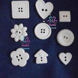 Gessetti colore bianco profumati a forma di BOTTONI per bomboniera Cresima, Battesimo, Comunione, Matrimonio, Natale – Idea Regalo