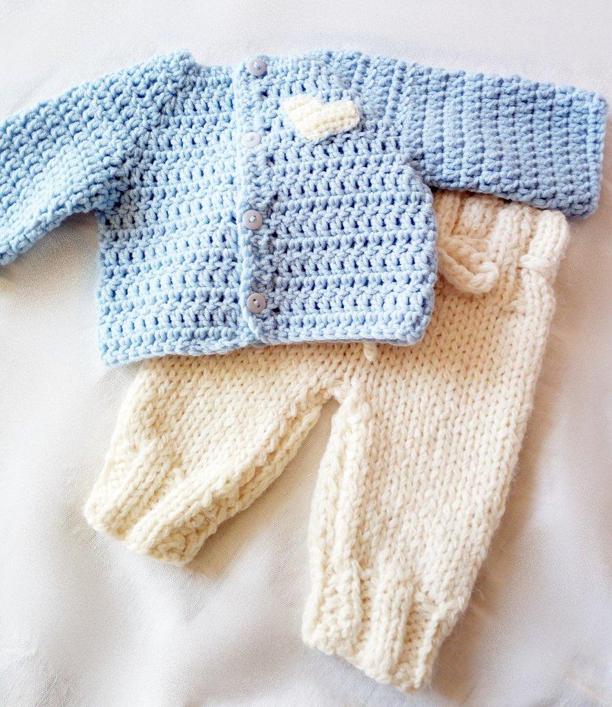 completino neonato fatto a mano uncinetto