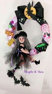 Fuori porta in pannolenci Strega di Halloween