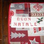 Coppia di presine natalizie, tutte realizzate interamente a mano e ricamate a punto croce