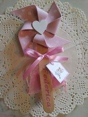 Girandole baby rosa e celeste