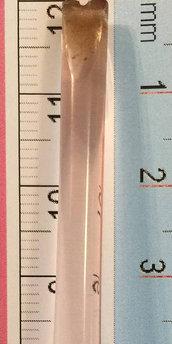 Goccia, ricambio per lampadari Venini o non, color rosa, di 9 cm di lunghezza