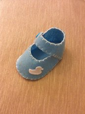 Bomboniera scarpina pannolenci maschietto