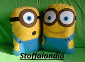 2 CUSCINI MINIONS IDEA REGALO NATALE