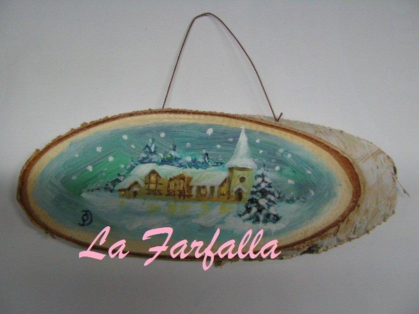 Quadretto paesaggio natalizio