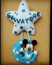 Fiocco nascita Baby Topolino - Mickey Mouse