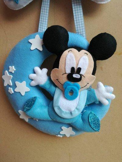 Fiocco Nascita Baby Topolino Mickey Mouse Bambini