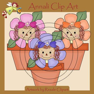 Clip Art per Scrapbooking e Decoupage - Bimbi in fiore - IMMAGINI