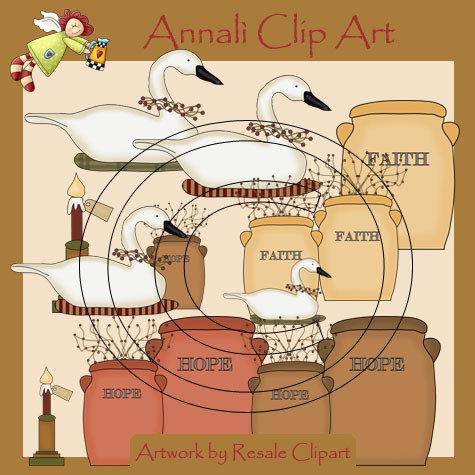 Clip Art per Scrapbooking e Decoupage - Country Life - IMMAGINI