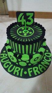 Torta finta compleanno