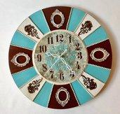 Orologio in legno da Parete Tiffany Style