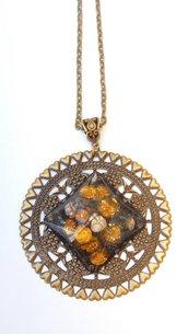 Collana realizzata a mano con resina e filigrana bronzo