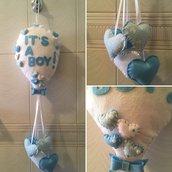 Fiocco nascita bambino palloncino