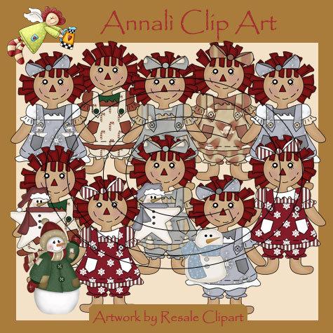 Clip Art per Scrapbooking e Decoupage - Bambola Raggedy - IMMAGINI