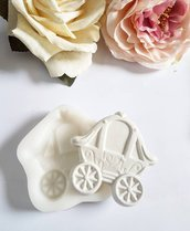 stampo  in gomma siliconica carrozza principe principessa