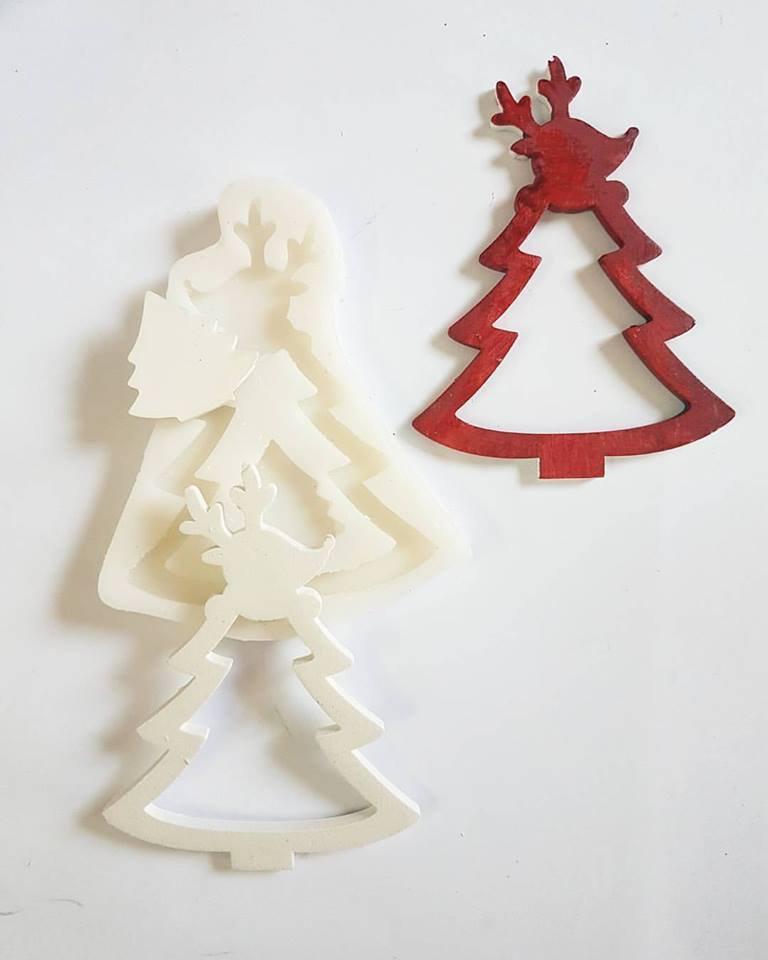 Stampo albero renna natalizio