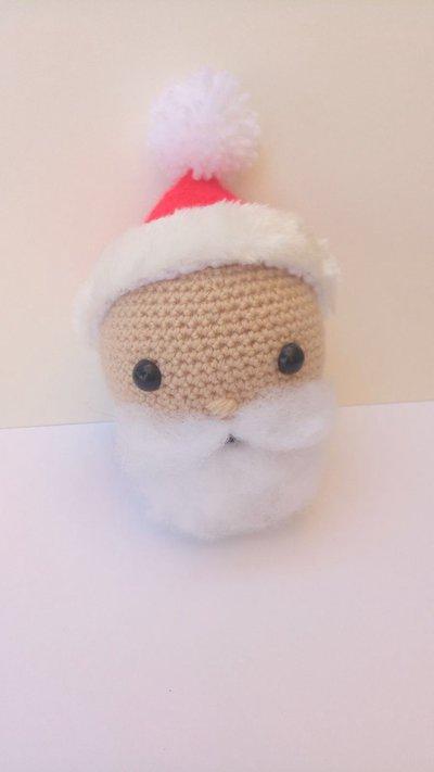 Pallina di natale amigurumi Babbo Natale