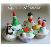Cupcake decorazione per Natale