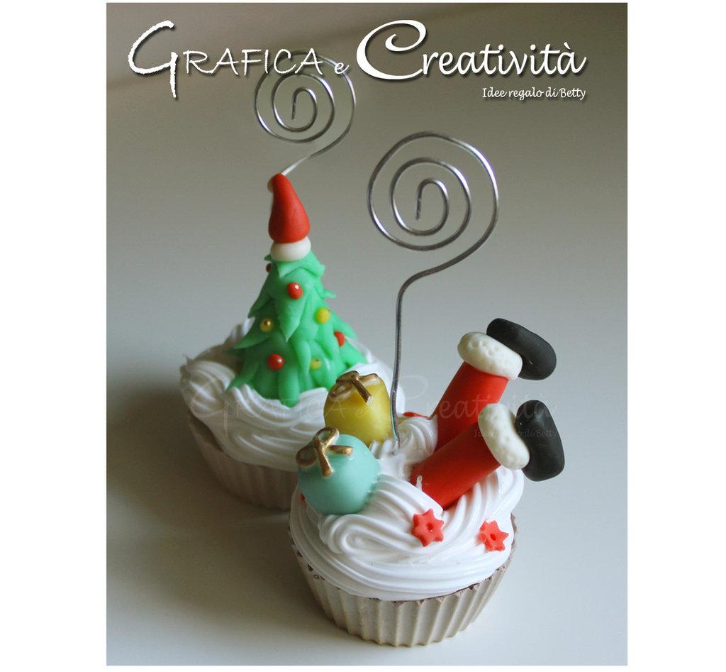 Cupcake segnaposto/portafoto per Natale - Feste - Natale ...