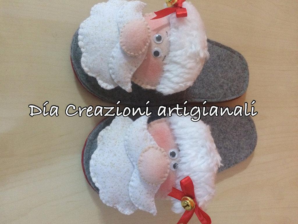 Pantofole natalizie babbo natale