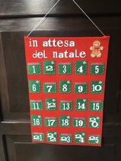 Calendario dell'avvento fatto a mano