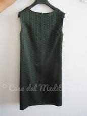 *Vintage - Tubino verde bottiglia, tg 42*