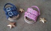 Sandali uncinetto neonato in stile Birkenstock