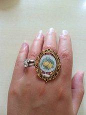 anello cammeo limoni sicilia agrumi barocco ottone oro