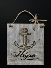 Targa legno Ancora Hope