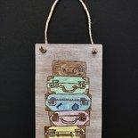 targhetta legno valige