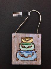 targa legno valige