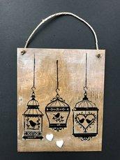 targhetta legno vintage