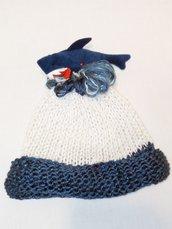 cappellino  fatto a mano a magliasqualetto